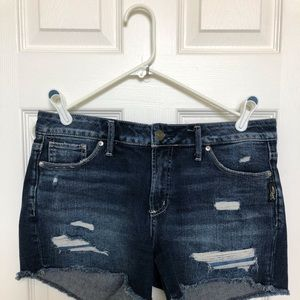 SILVER JEANS Distressed Shorts